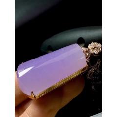 紫罗兰翡翠素面,裸石38.6-22-12m