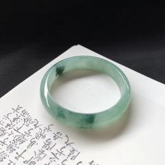 翡翠手镯正圈,尺寸 57.7宽13.1厚